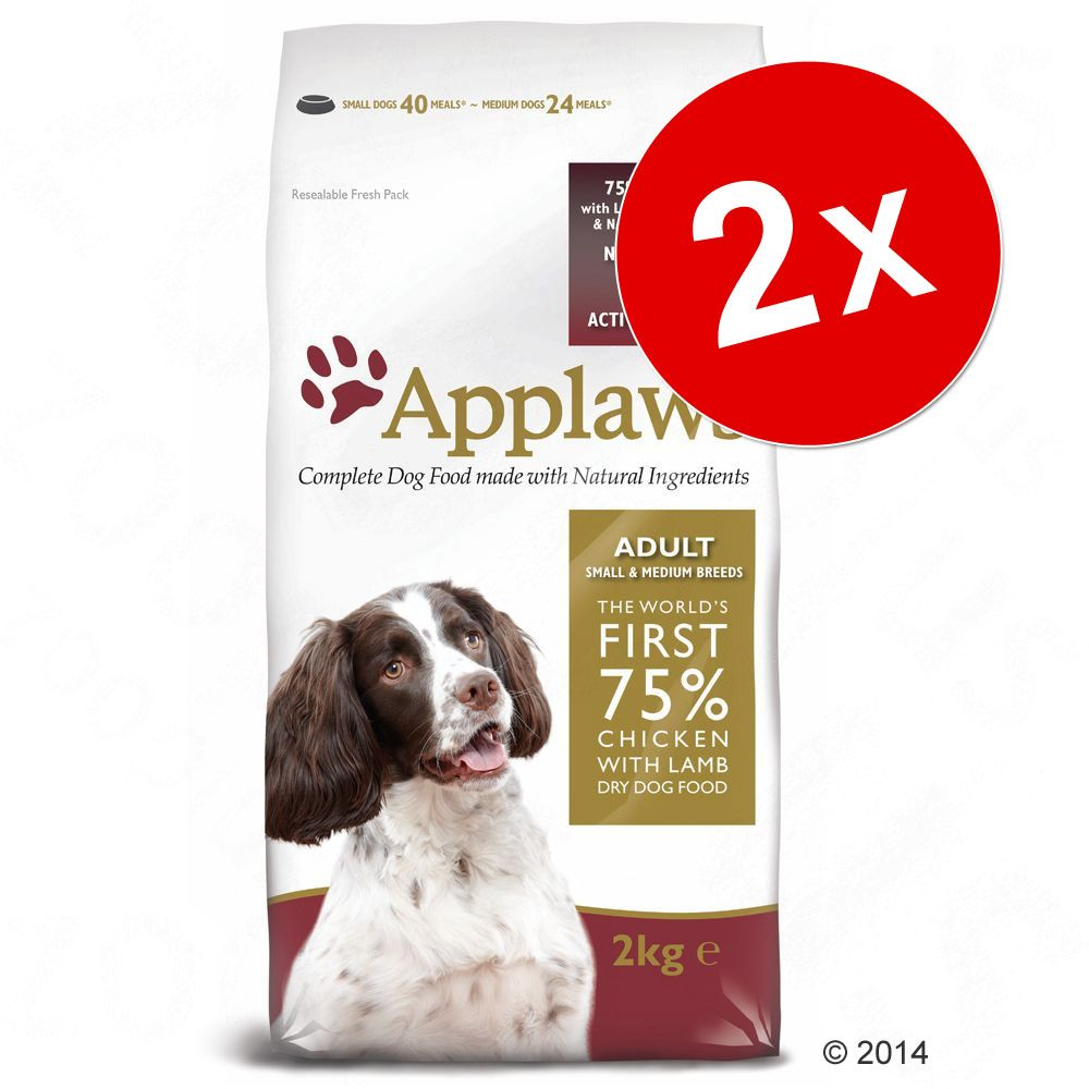 Lot Applaws 2 x 7,5 kg ou 15 kg - Adult Small & Medium Breed poulet, agneau (2 x 15 kg)