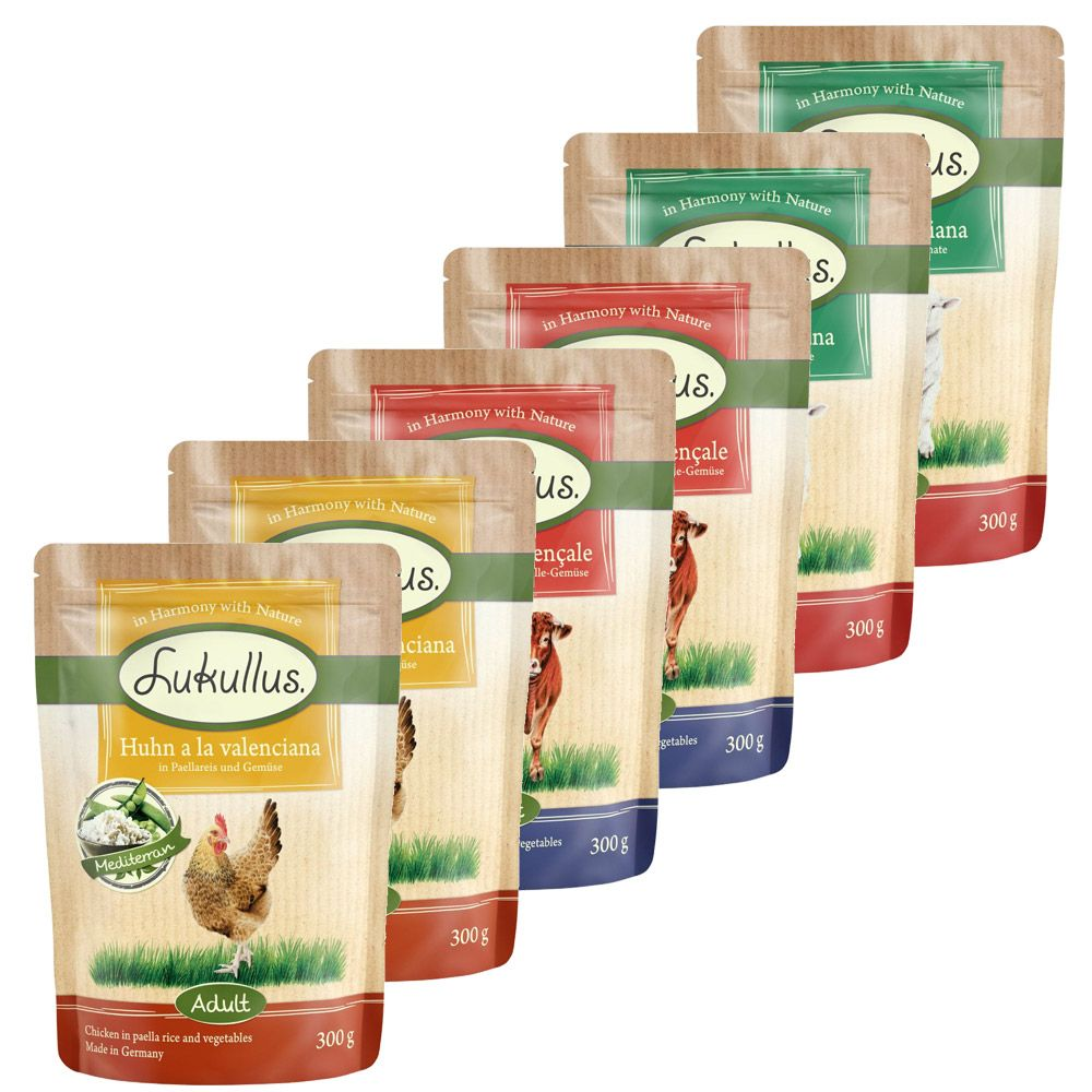 Mediterranean Mixed Trial Pack Lukullus Wet Dog Food