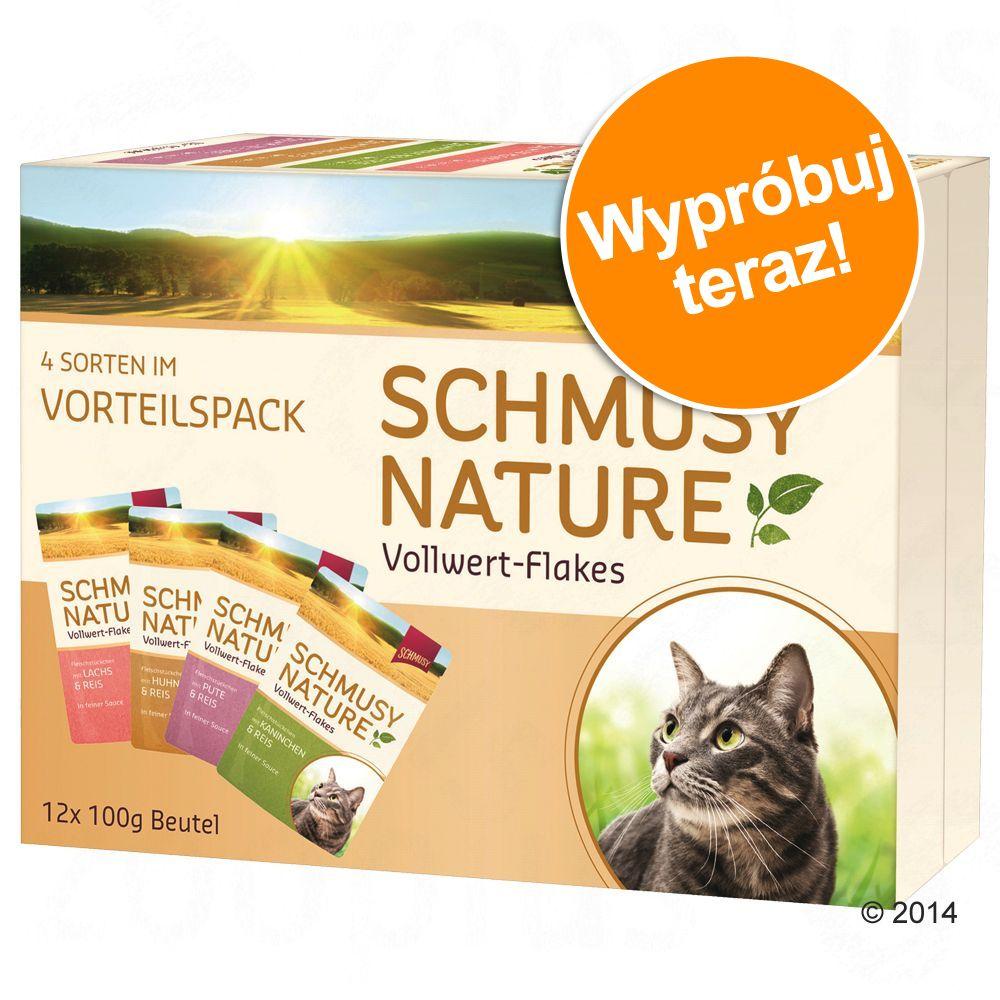 Pakiet próbny Schmusy Nature Vollwert Flakes, 12 x 100 g - Drób, 12 x 100 g