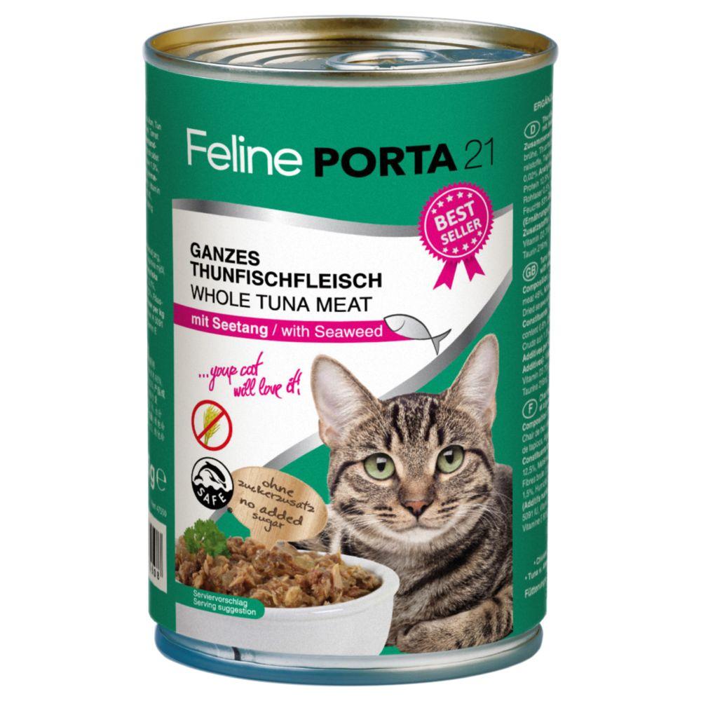 Feline Porta 21 6 x 400 g - Tonfisk med räkor