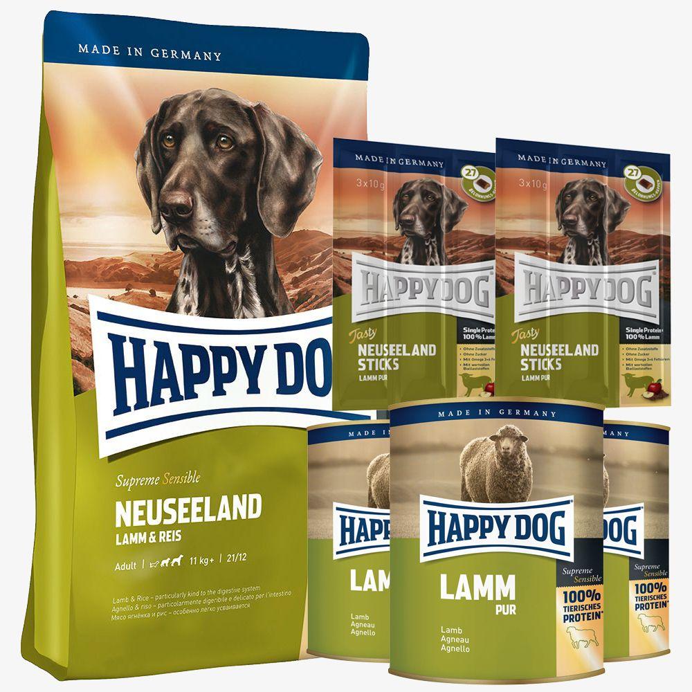 Testpaket Happy Dog Neuseeland Trocken- & Nassf...