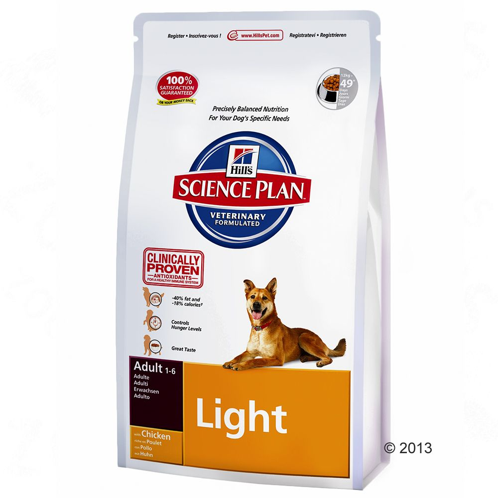 Hill's Canine Adult Light, kurczak - 2 x 12 kg