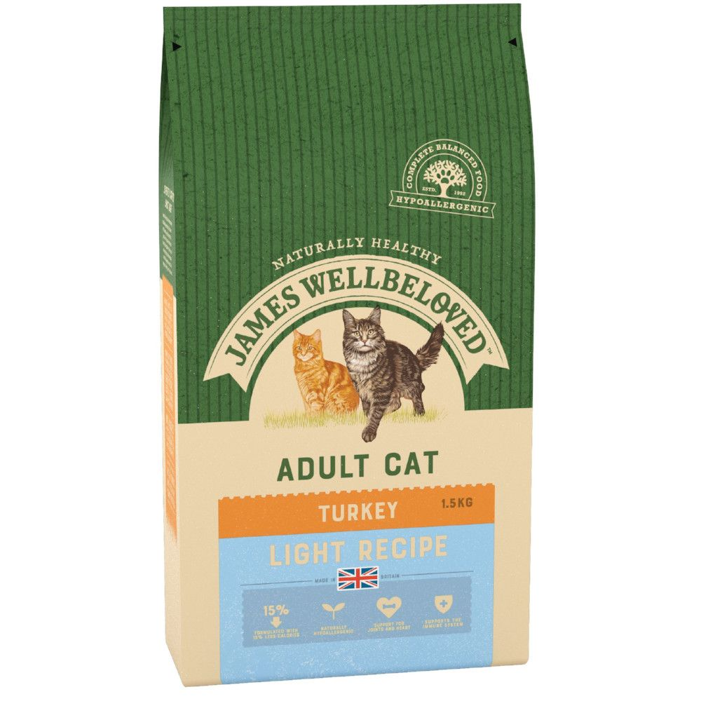 Turkey Light Adult Cat Food James Wellbeloved