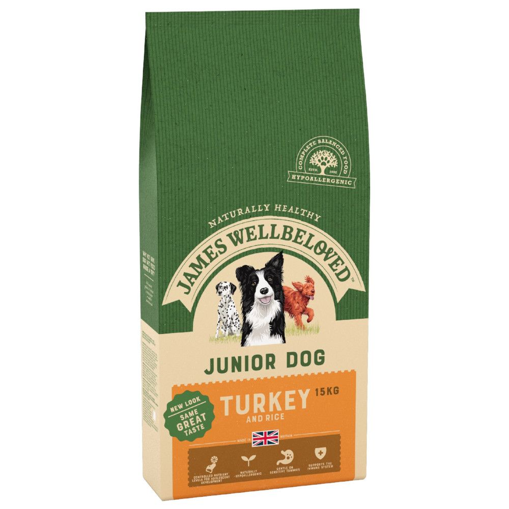 Junior Turkey & Rice James Wellbeloved Dry Dog Food