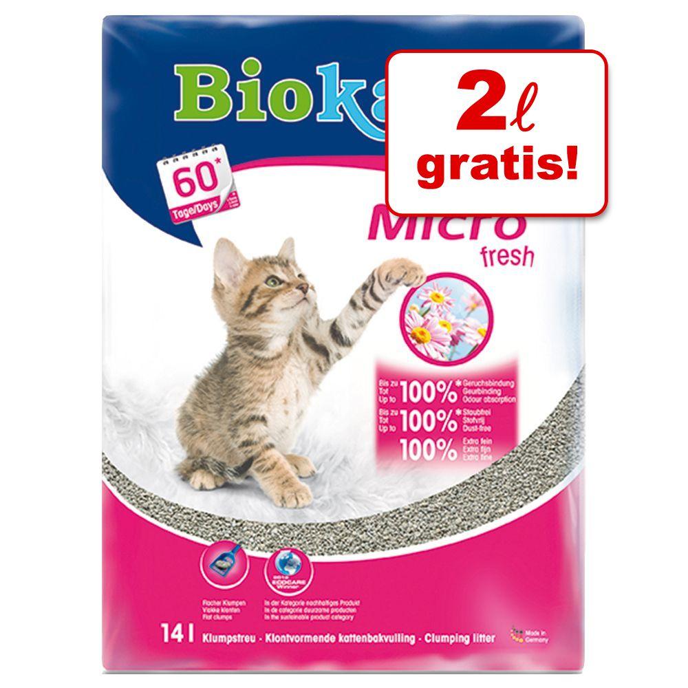 12 + 2 liter på köpet! 14 liter Biokat's Micro kattsand Micro Fresh