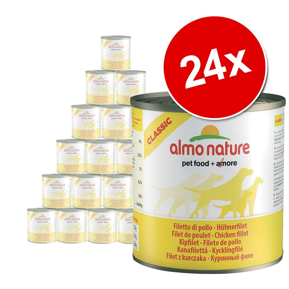 Foto Almo Nature Classic 24 x 290 g - Filetto di Pollo (280 g)