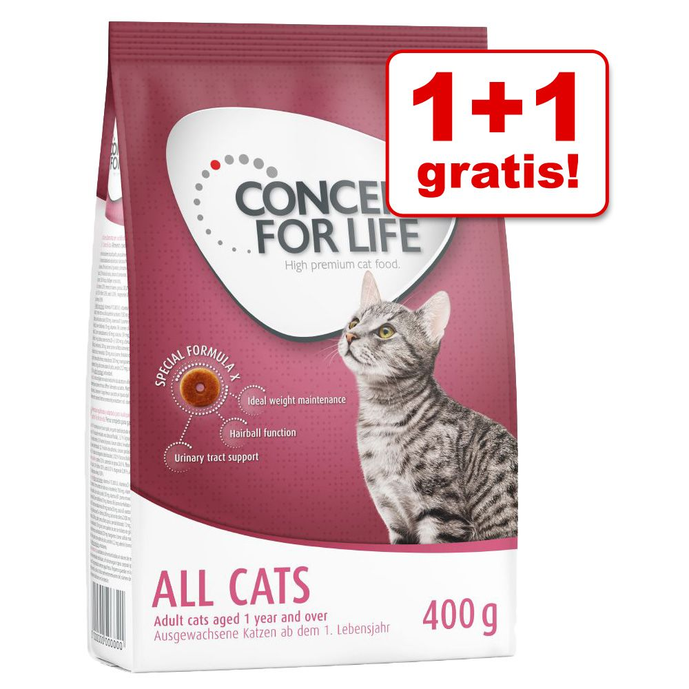 1 + 1 gratis! Concept for Life, 2 x 400 g - British Shorthair Adult