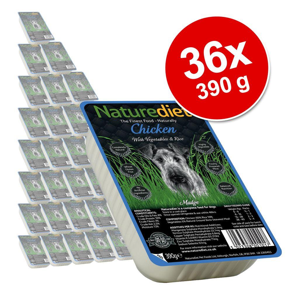 Ekonomipack: 36 x 390 g Naturediet hundfoder - Chicken
