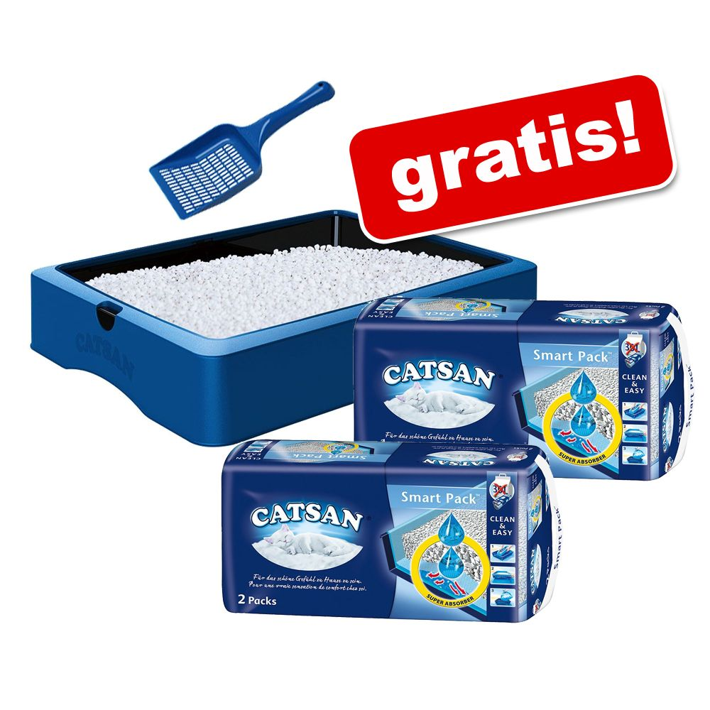 Startset: 2 x 2 Catsan Smart Packs + Katzentoilette & Schaufel! - 2 x 2 Packs