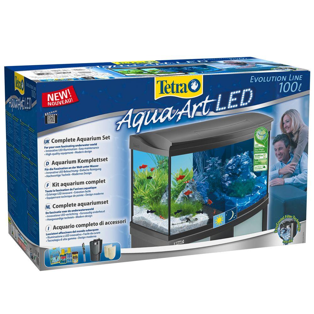 Tetra AquaArt Evolution Line LED Complete Aquarium Set 100L - 77 x 38 x 48.2 cm (L x W x H), approx. 100l