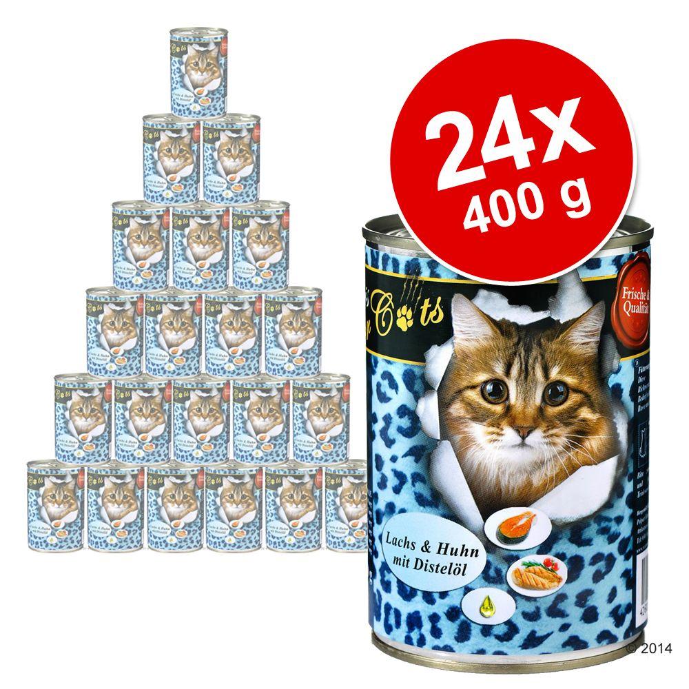 Ekonomipack: O'Canis for Cats 24 x 400 g - Anka & kyckling med safflorolja