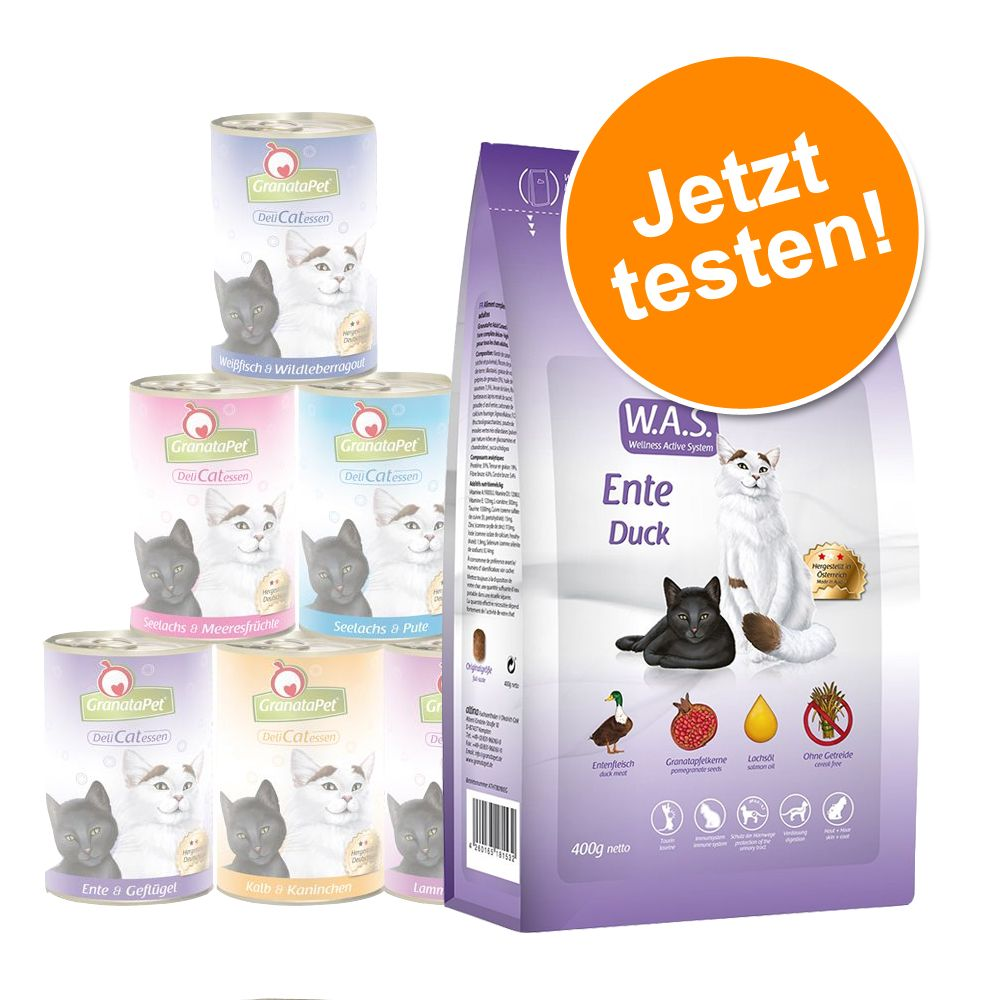 10 kg Sparpaket GranataPet + 6 x 400 g Mix Nassfutter - Adult Fisch + Mix Nassfutter