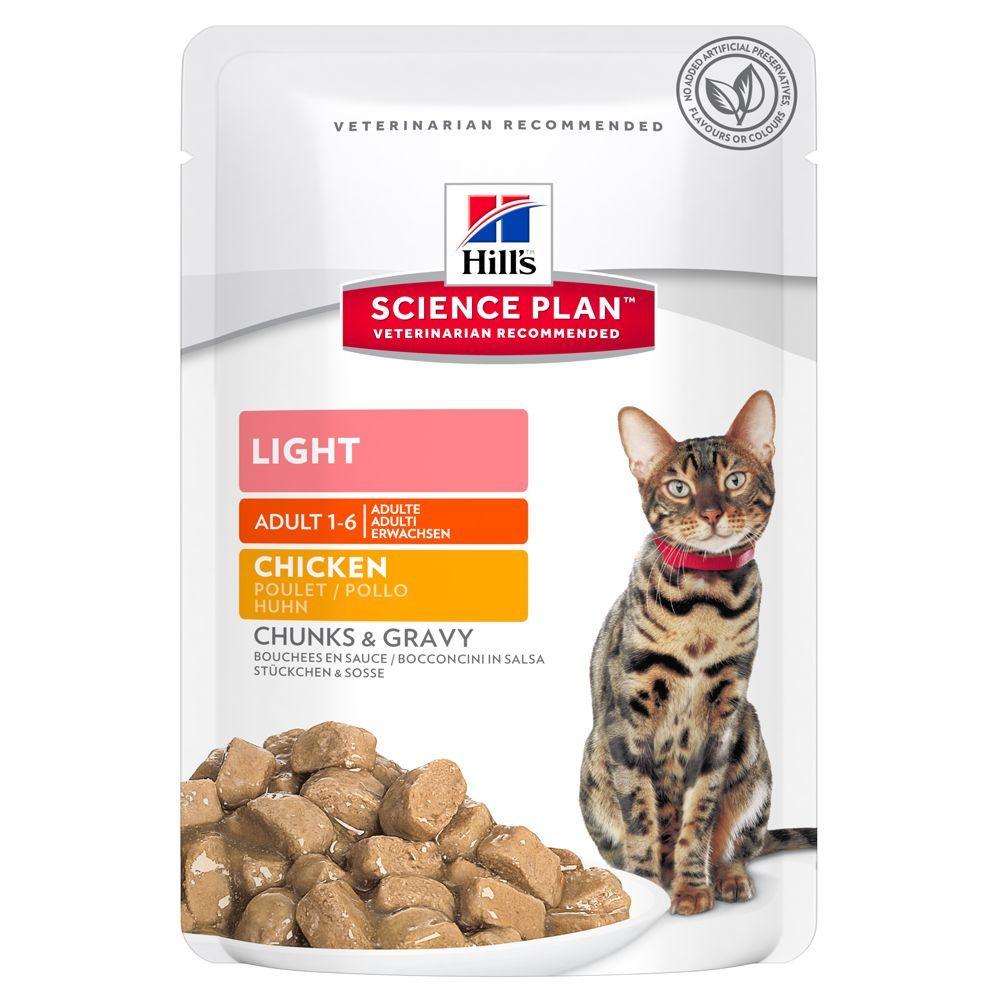 Hill´s Science Plan Adult Light pour chat - poulet (6 x 85 g)