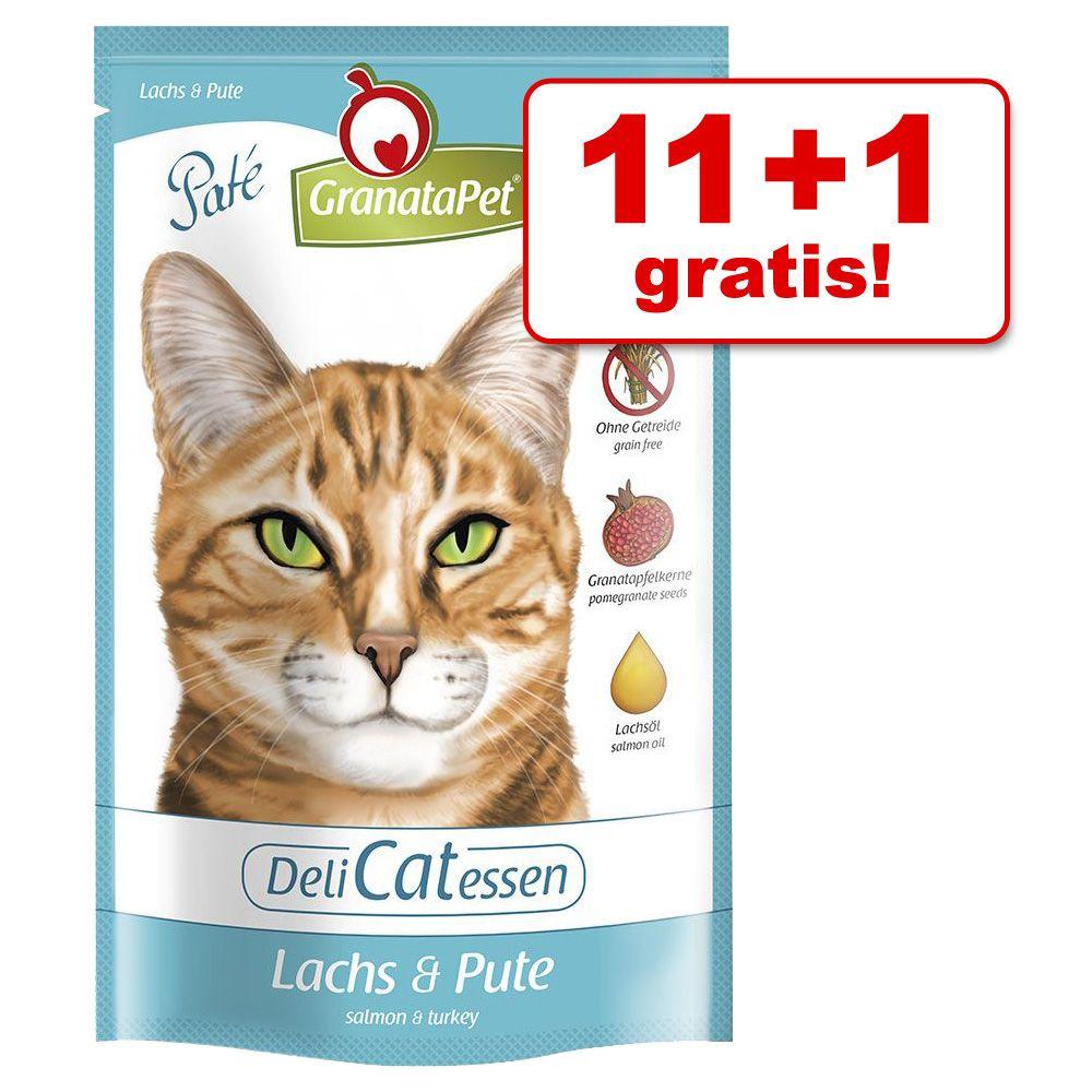 11 + 1 gratis! GranataPet DeliCatessen, 12 x 85 g - Pakiet mieszany II