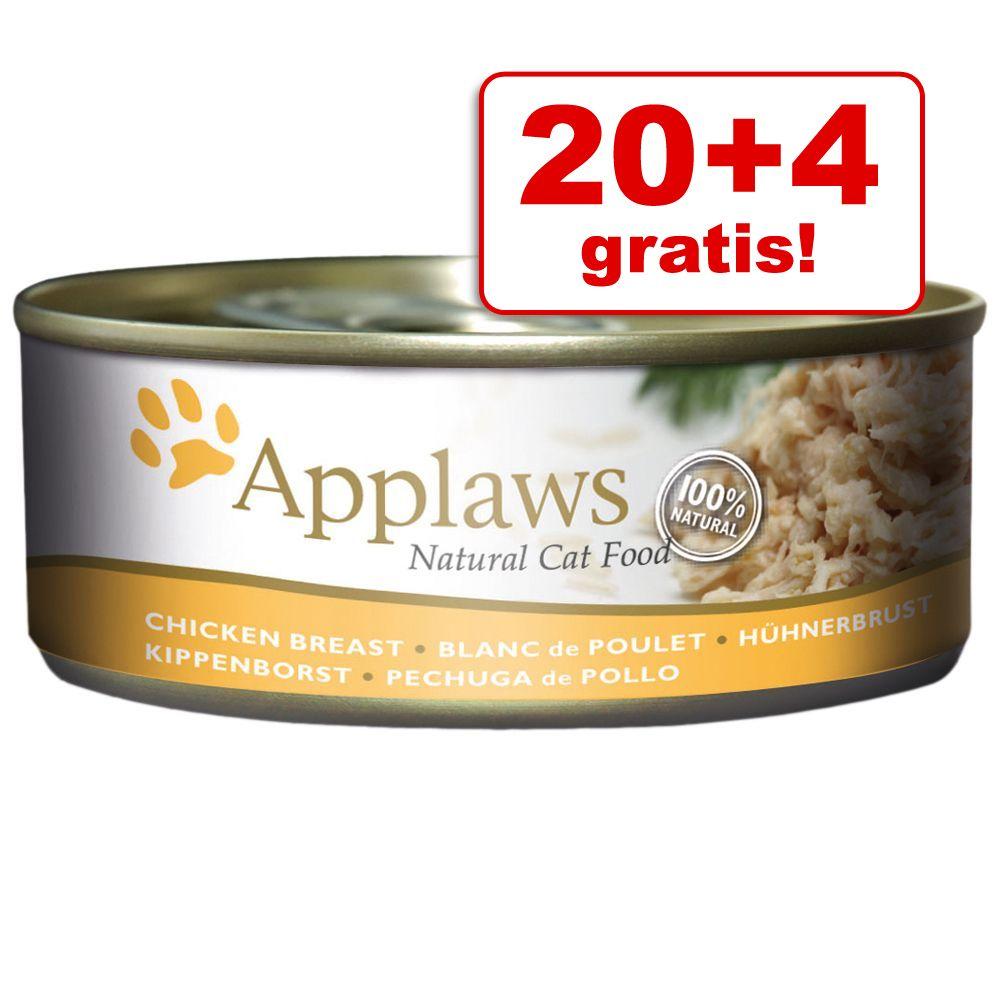 20 + 4 gratis! Applaws w bulionie, 24 x 156 g - Filet z tuńczyka z wodorostami