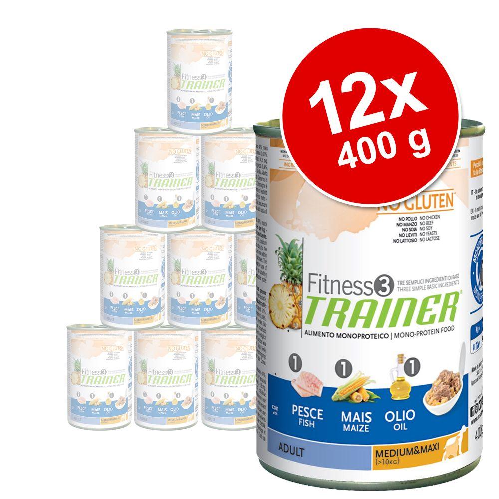 Korzystny pakiet Trainer Fitness 3 Adult Medium/Maxi, 12 x 400 g - Królik i ziemniaki