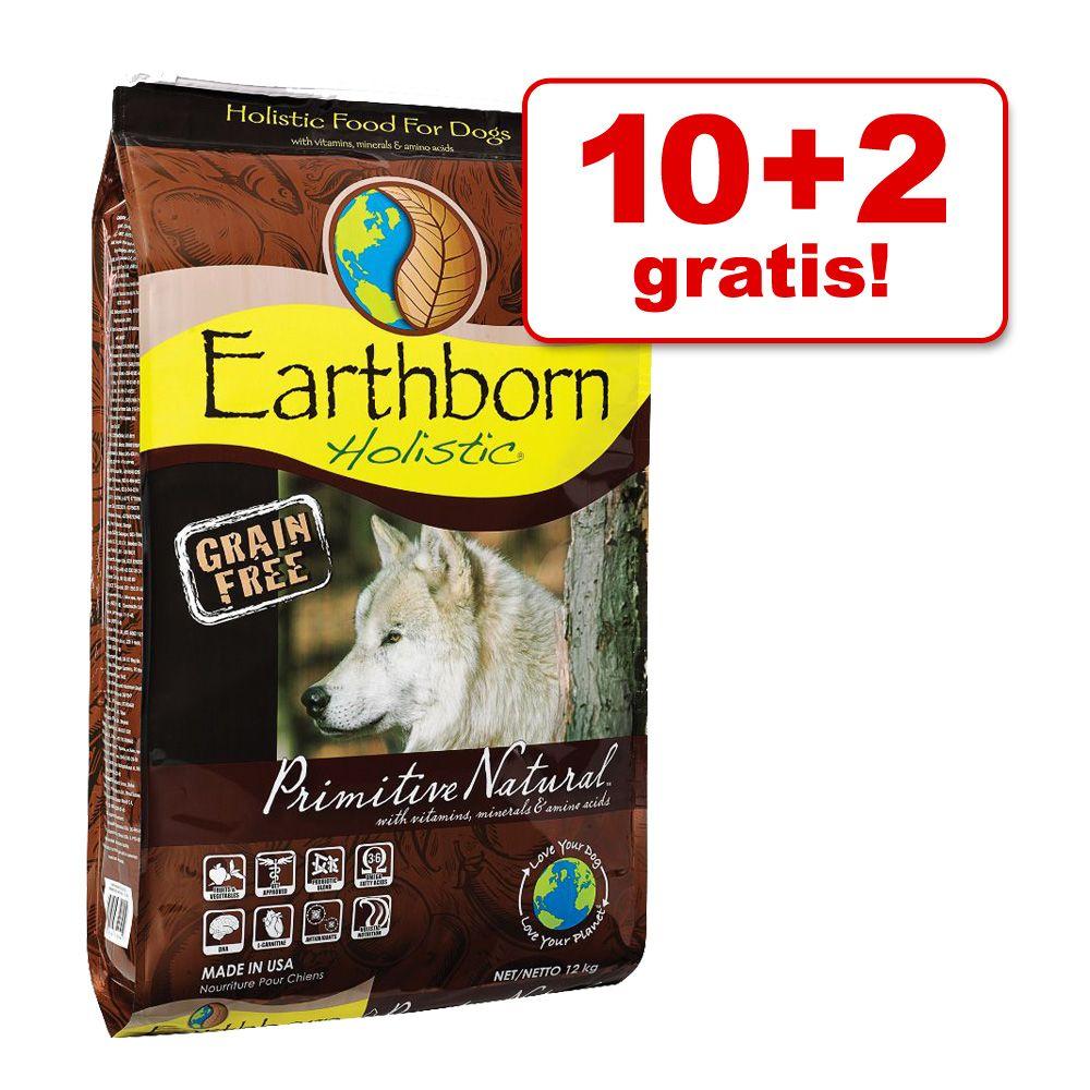 10 kg + 2 kg gratis! Earthborn Holistic, 12 kg - Primitive Natural