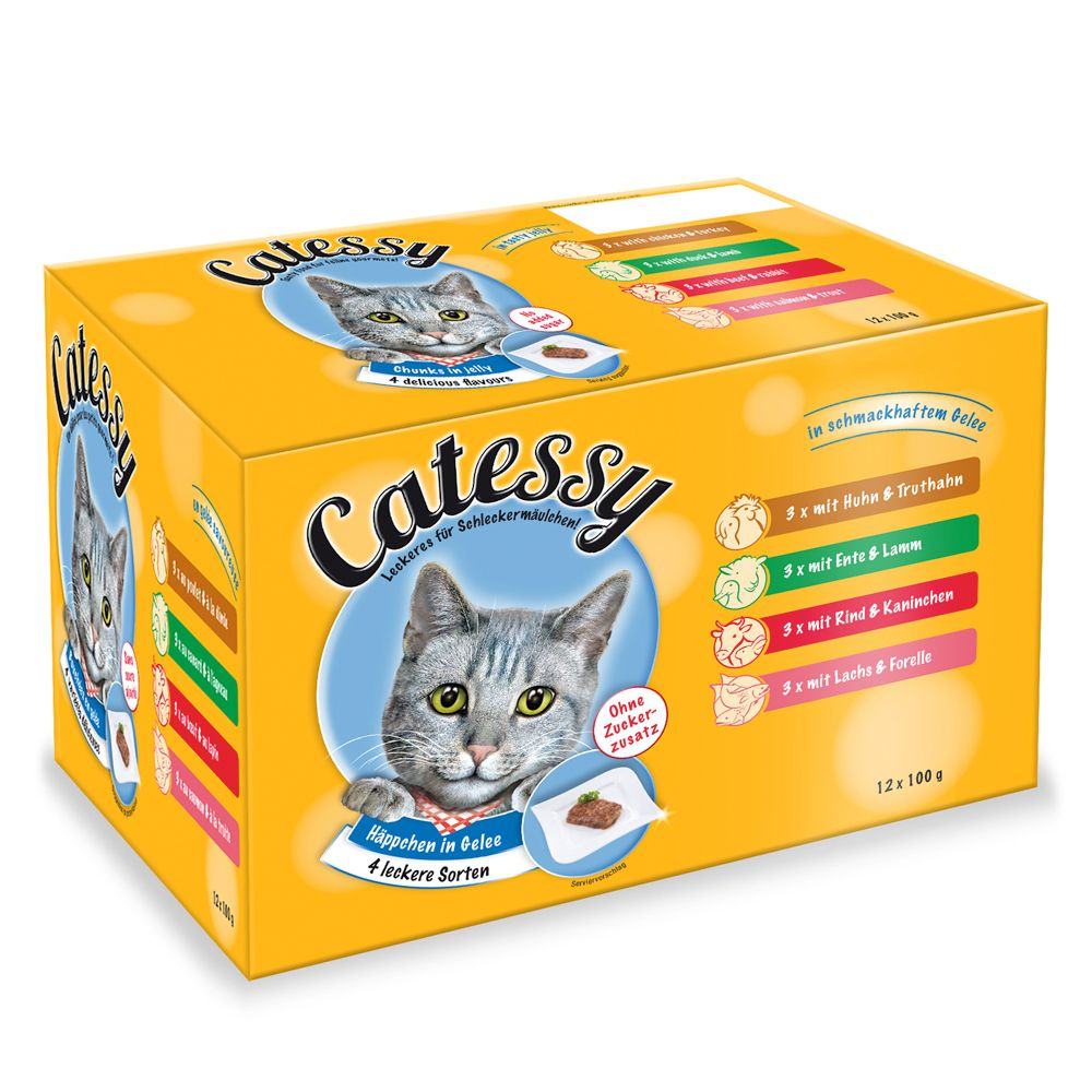 Catessy Chunks in Jelly - Saver Pack: 48 x 100g