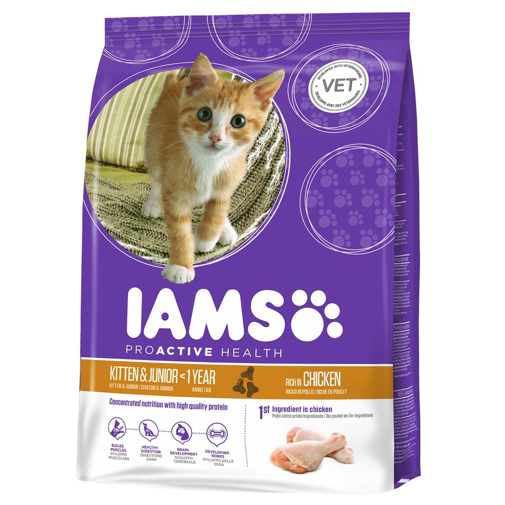 IAMS Pro Active Health Kitten & Junior pour chaton - 10 kg