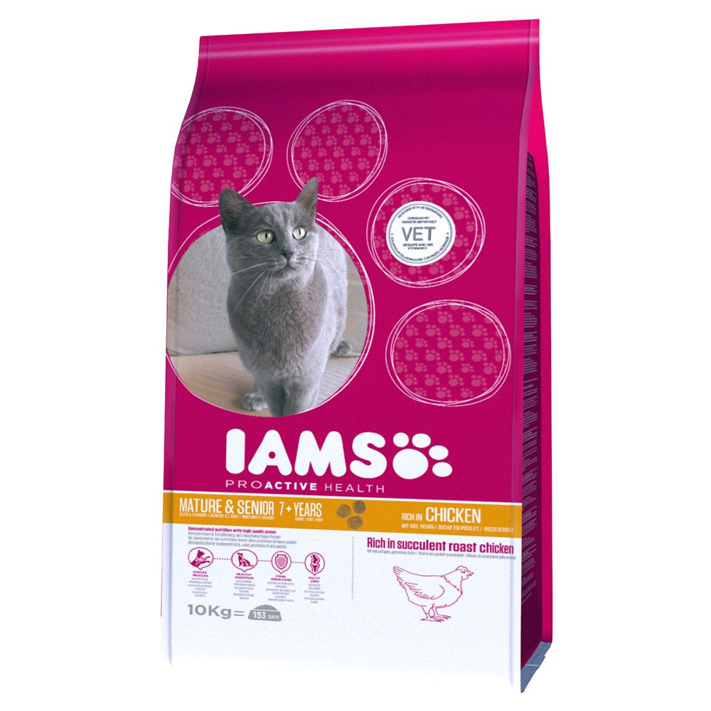 Iams Proactive Health Mature & Senior Chicken Dry Cat Food - 10kg