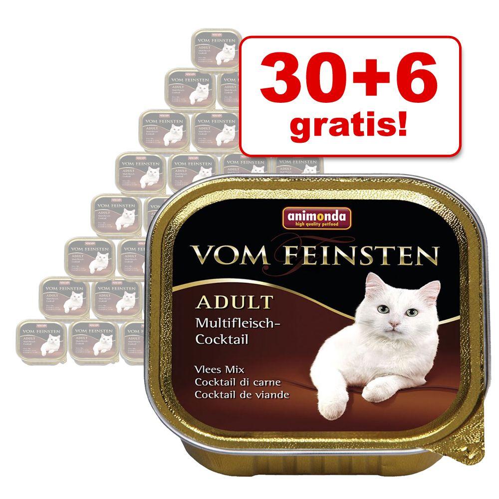 30 + 6 gratis! 36 x 100 g Animonda vom Feinsten...