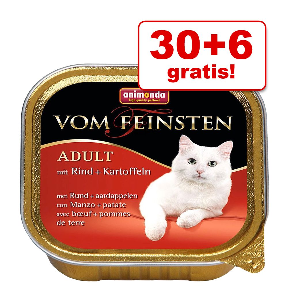 30 + 6 gratis! Animonda vom Feinsten, 36 x 100 g - Dla kastratów, Indyk z pstrągiem