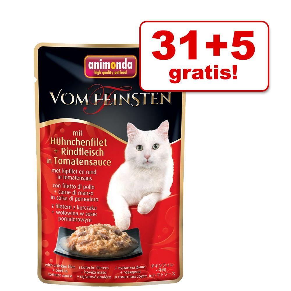 31 + 5 gratis! Animonda vom Feinsten Adult w saszetkach, 36 x 50 g - Filet z kurczaka i pierś z kaczki w sosie