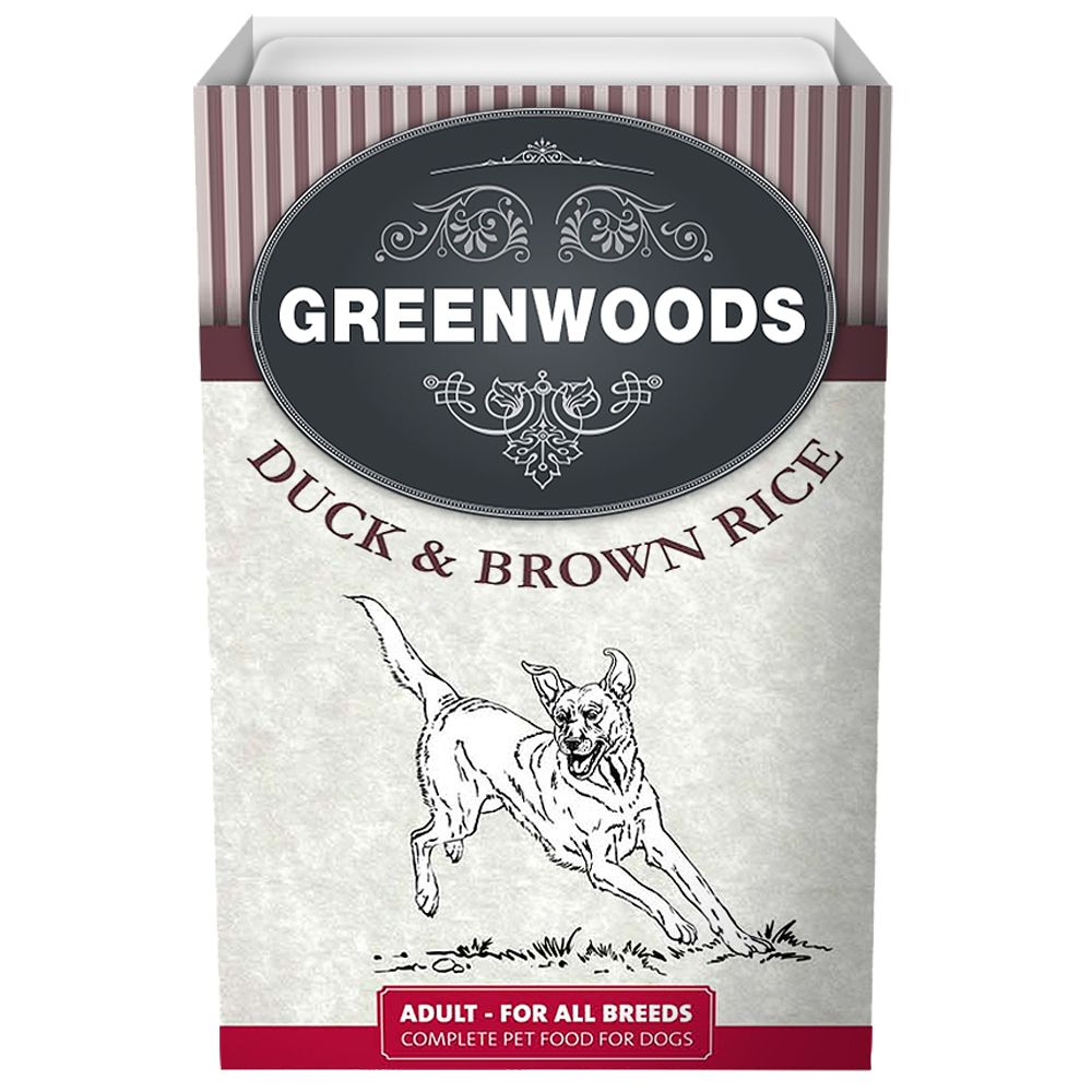Greenwoods Adult – Duck & Brown Rice - 6 x 395g