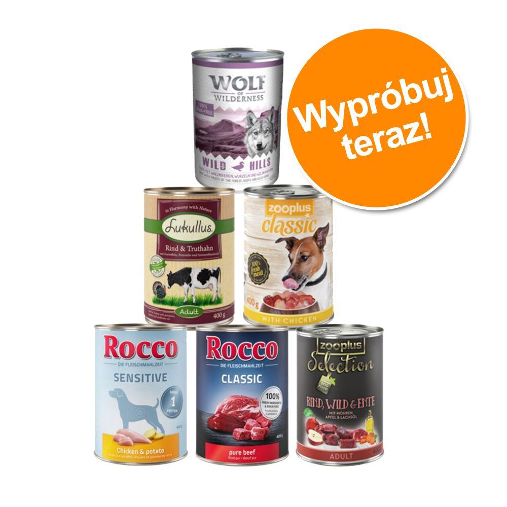 Mieszany pakiet próbny, różne marki, 6 x 400 g - Mieszany pakiet próbny, różne marki, 6 x 400 g
