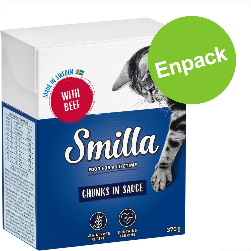Enpack: Smilla Chunks i sås eller gelé 1 x 370 / 380 g Lax i gelé
