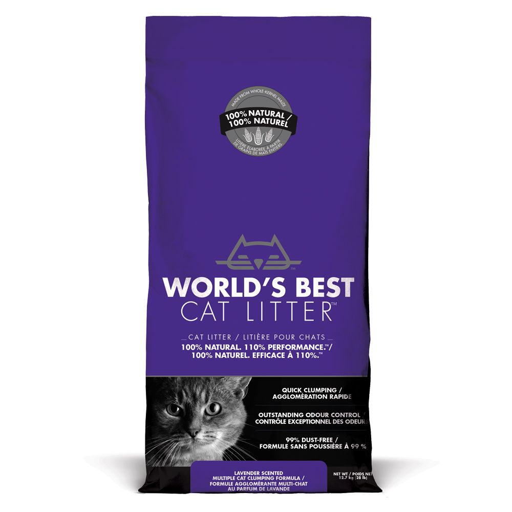 Worlds Best Cat Litter Lavender Scented kattströ - 12,7 kg