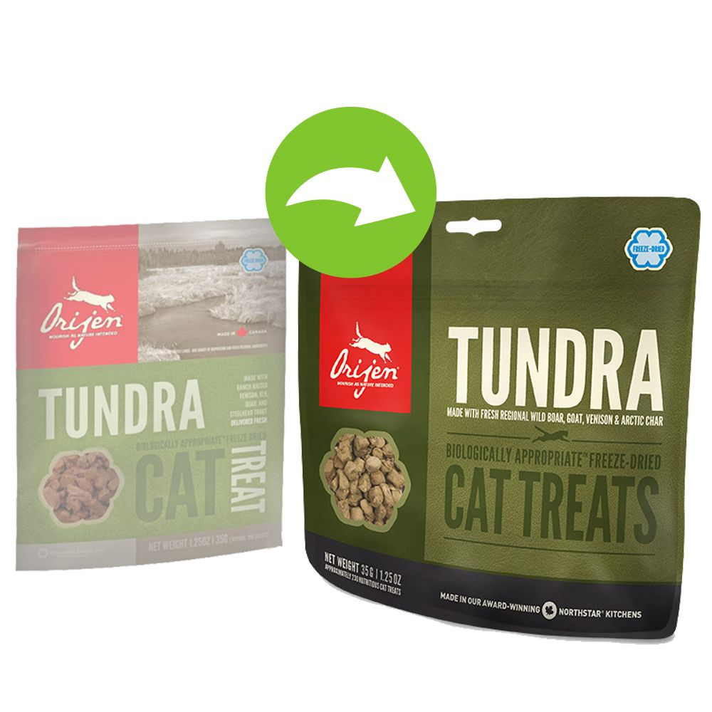 Orijen Cat Snack Tundra - Sparpaket: 3 x 35 g