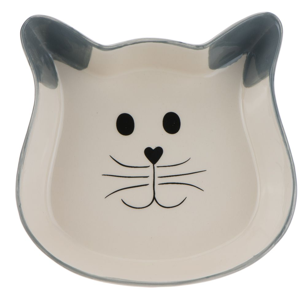 Trixie Cat Face Ceramic Bowl - 0.25 litre