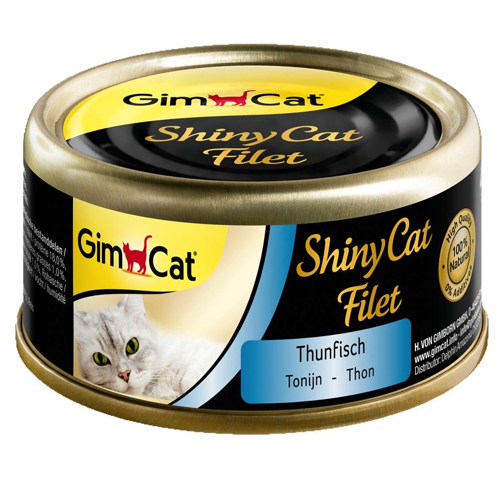 GimCat ShinyCat Cans 6 x 70g - Chicken & Shrimps