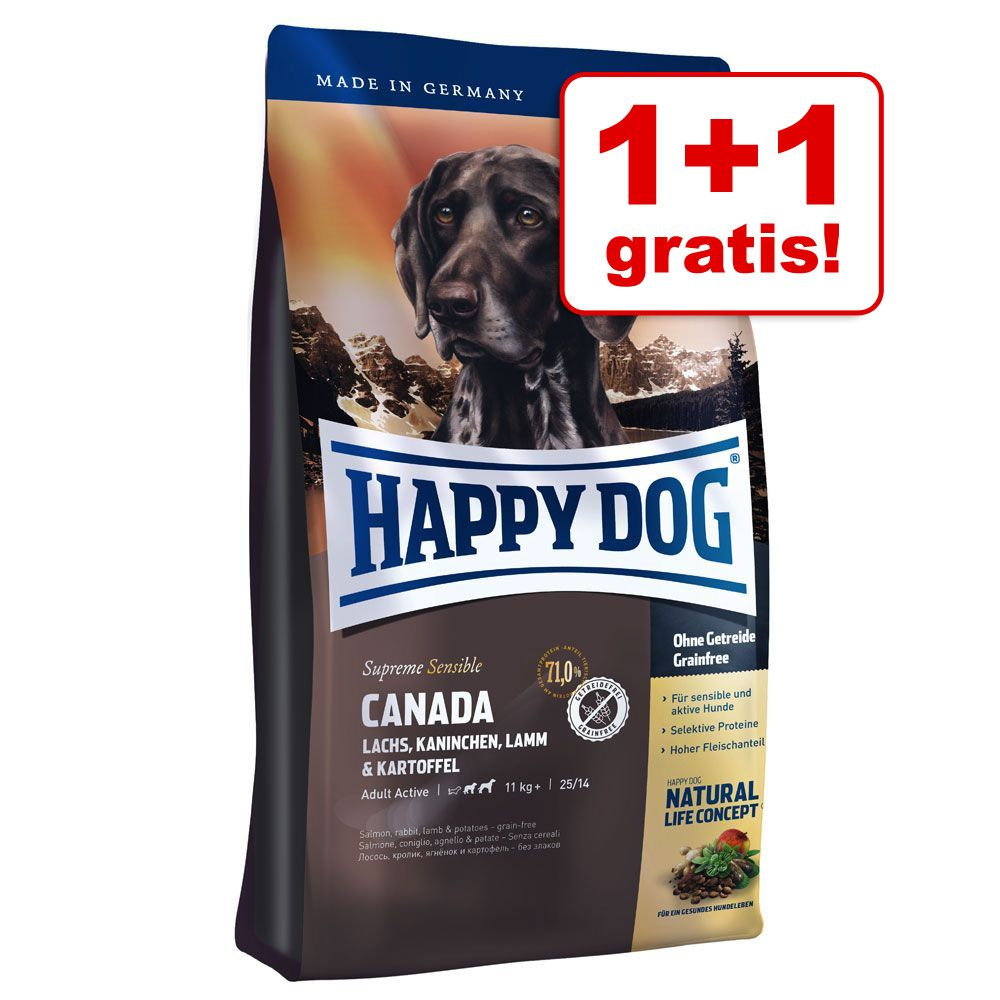 1 + 1 gratis! Karma Happy Dog Supreme Sensible Kanada, 2 x 300 g - 2 x 300 g