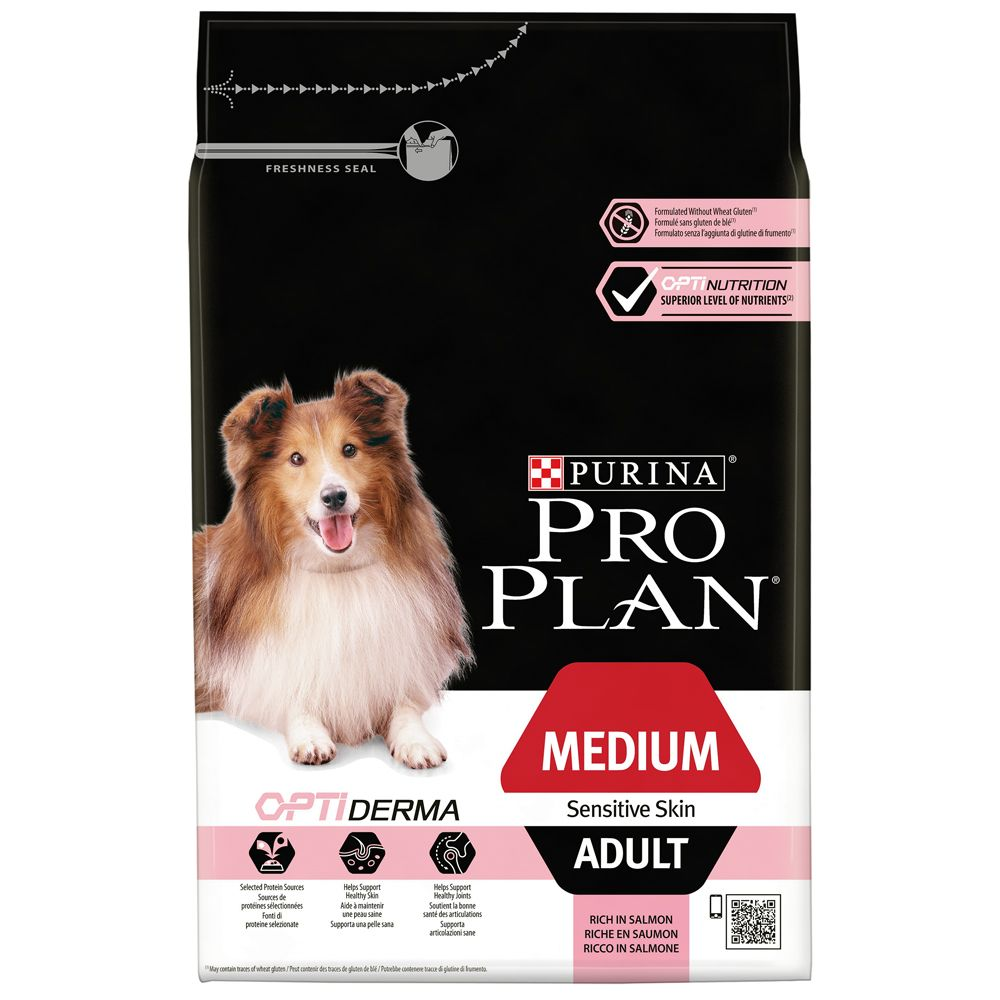 Adult Medium Sensitive Skin OptiDerma Pro Plan Dry Dog Food