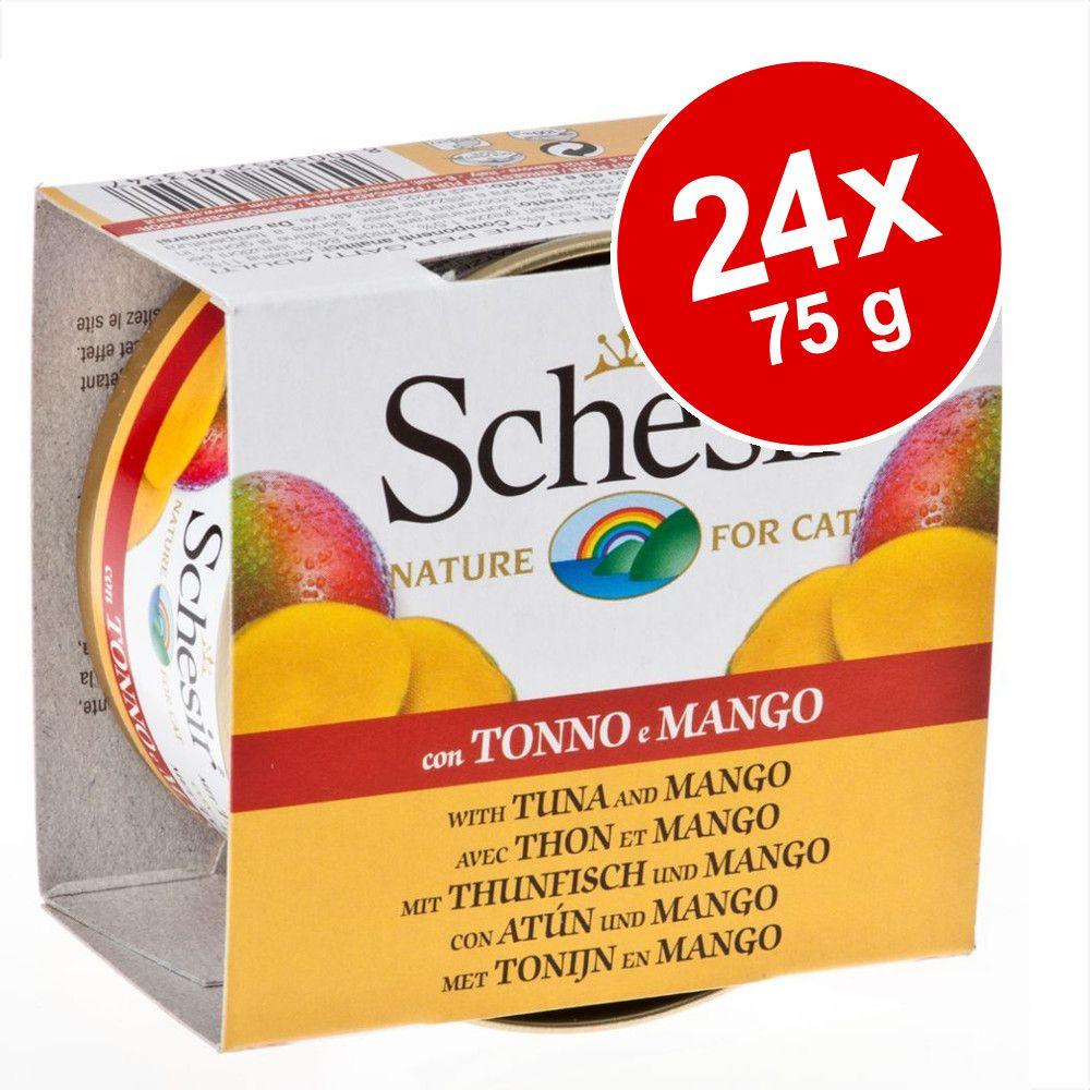 Ekonomipack: Schesir Fruit 24 x 75 g - Tonfisk & papaya