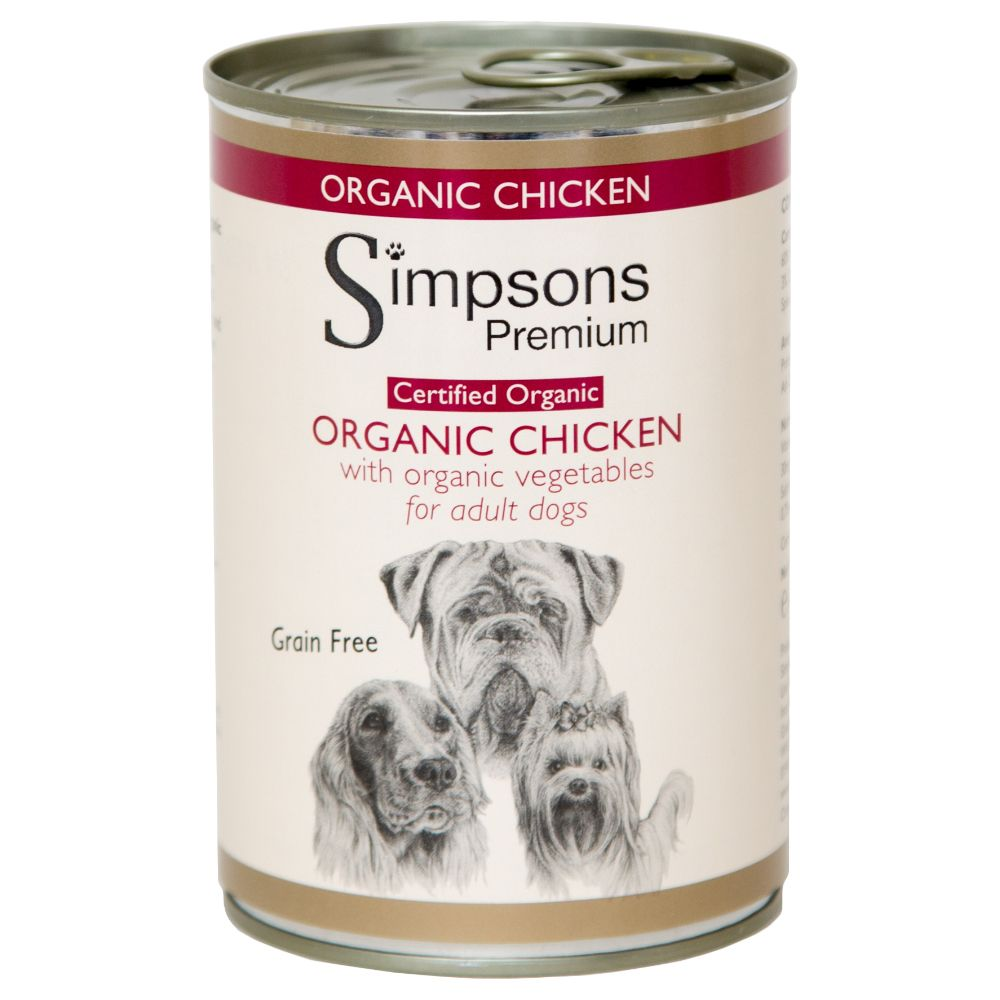Simpsons Premium Dog Certified Organic - Chicken Casserole - 6 x 400g