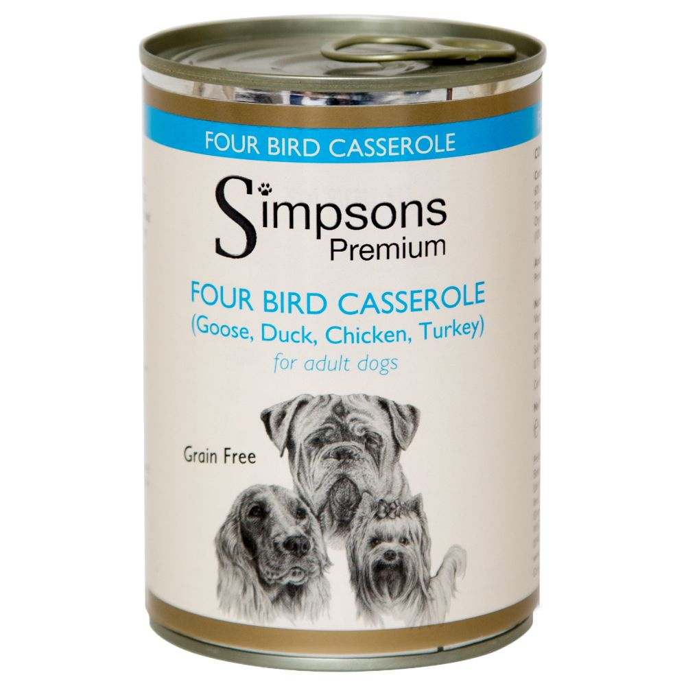Foto Simpsons Premium Four Bird Casserole con verdure biologiche - 12 x 400 g