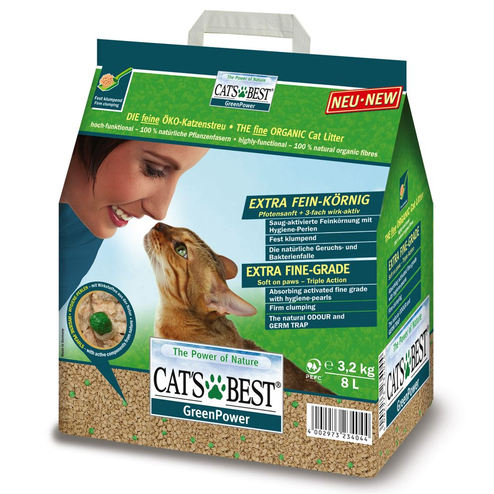 Cat's Best Green Power - Economy Pack: 2 x 8l