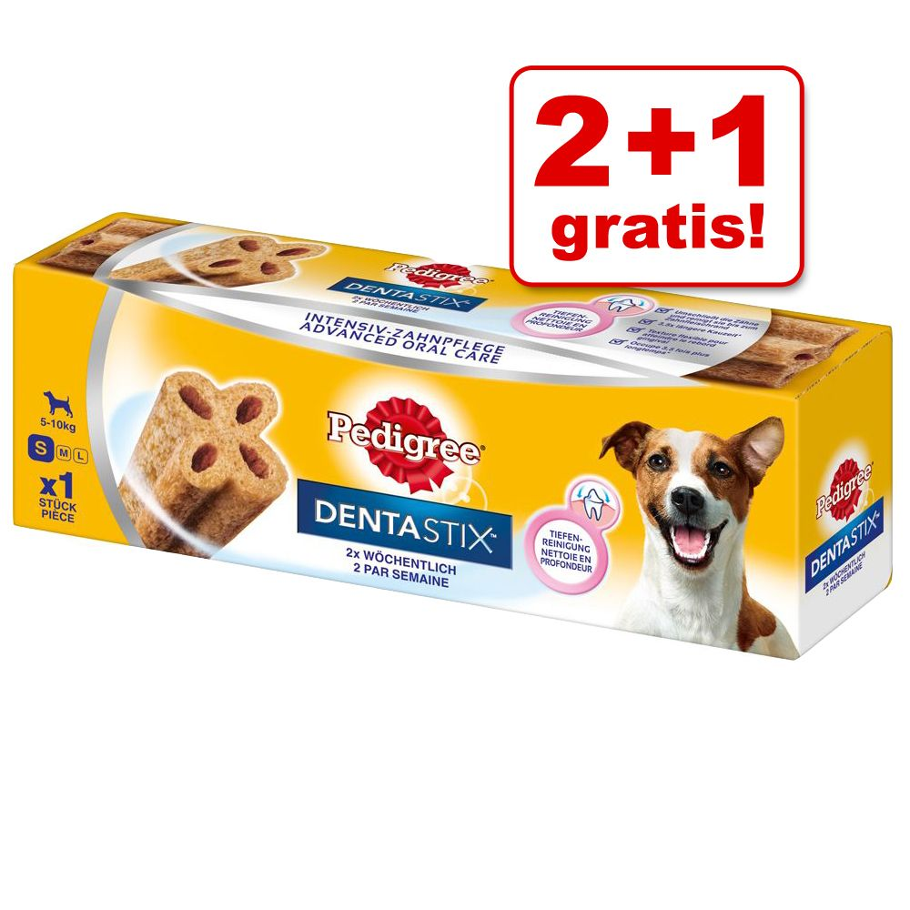 Image of 2 +1 gratis! 3 x Pedigree Dentastix 2 x wöchentlich - groß (3 x 120 g)