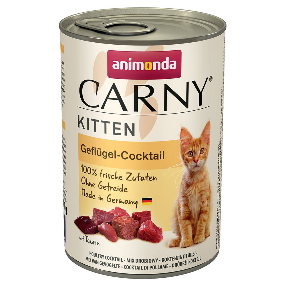 Beef Veal & Chicken Animonda Carny wet cat food