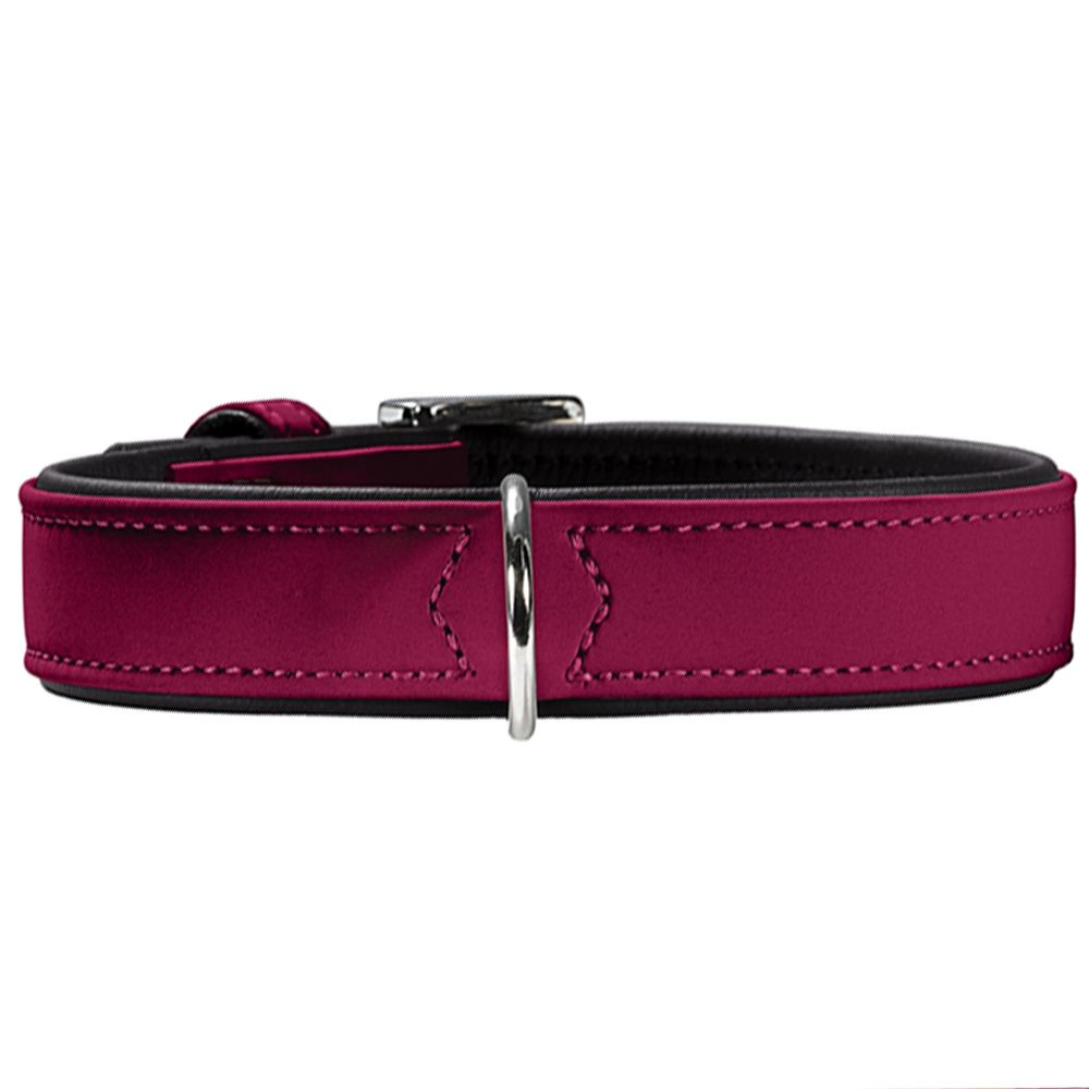 Hunter Softie Dog Collar and Lead Set - Raspberry - Size S