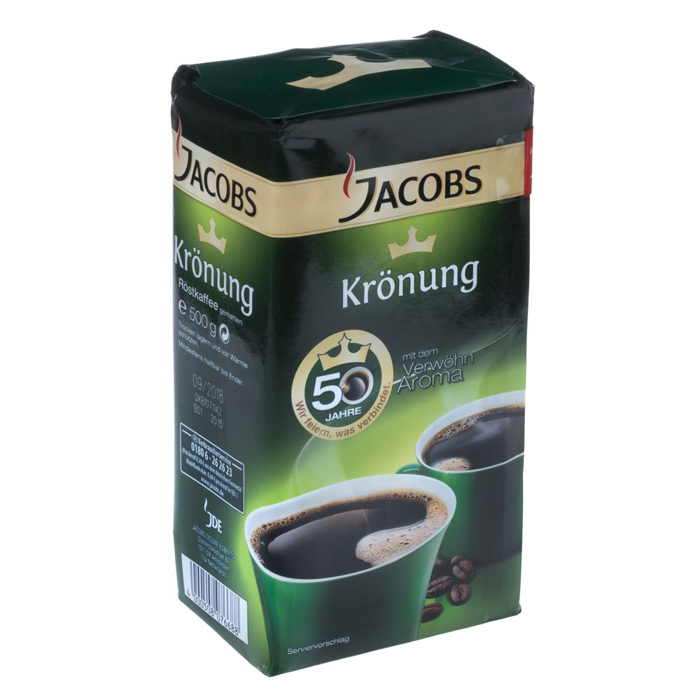 jacobs krönung Our best selling german coffee jacobs kroenung is the best of jacobs coffee finest premium coffee with the jacobs aroma high quality coffee beans selected from the best regions blended to compose this fine coffee.