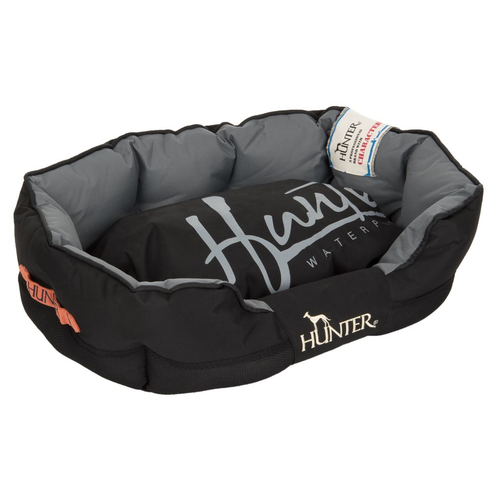 Hunter Grimstad Dog Bed - Black - 75 x 50 x 25 cm (L x W x H)