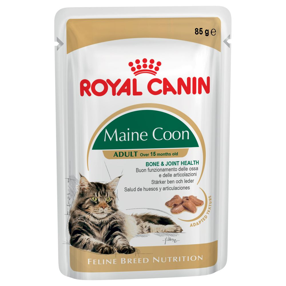 Royal Canin Breed Wet Cat Food Saver Pack 48 x 85g - Maine Coon