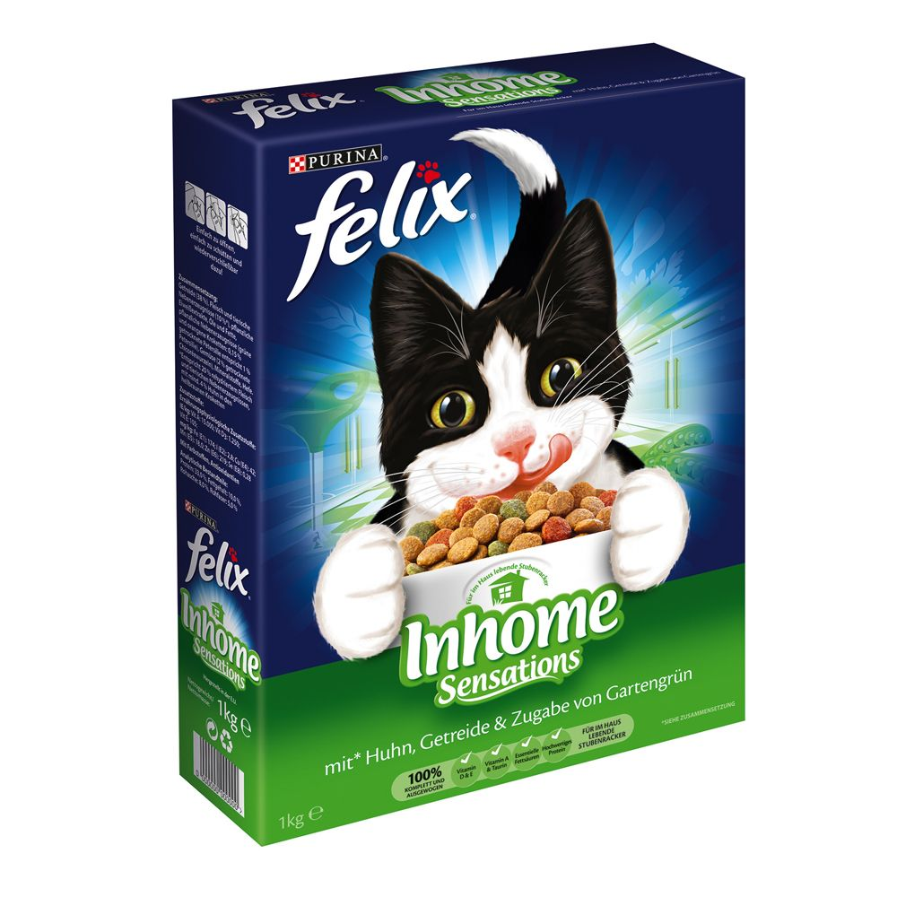 Felix Indoor Sensations Dry Cat Food - 2kg