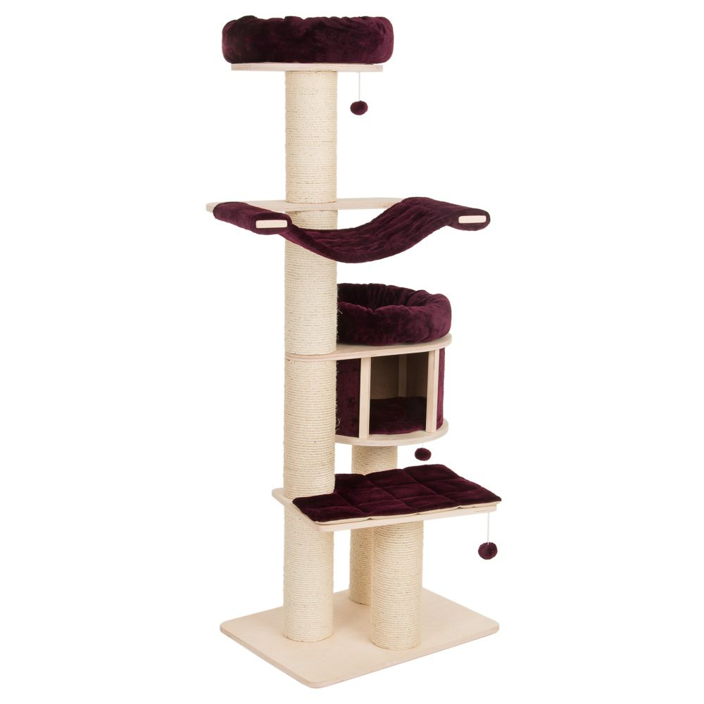 Natural Paradise Burgundy Cat Tree