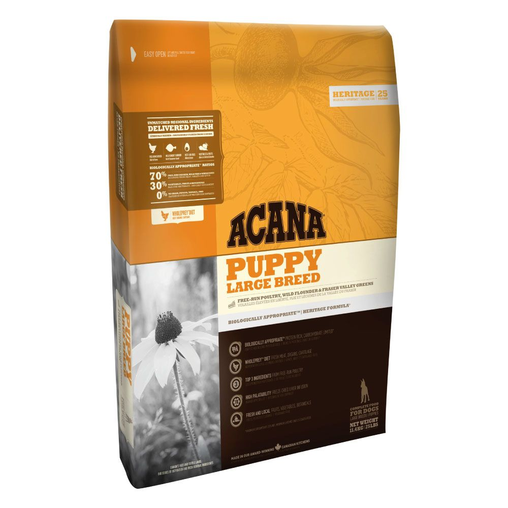 11.4kg Acana Puppy Large Breed Dry Dog Food