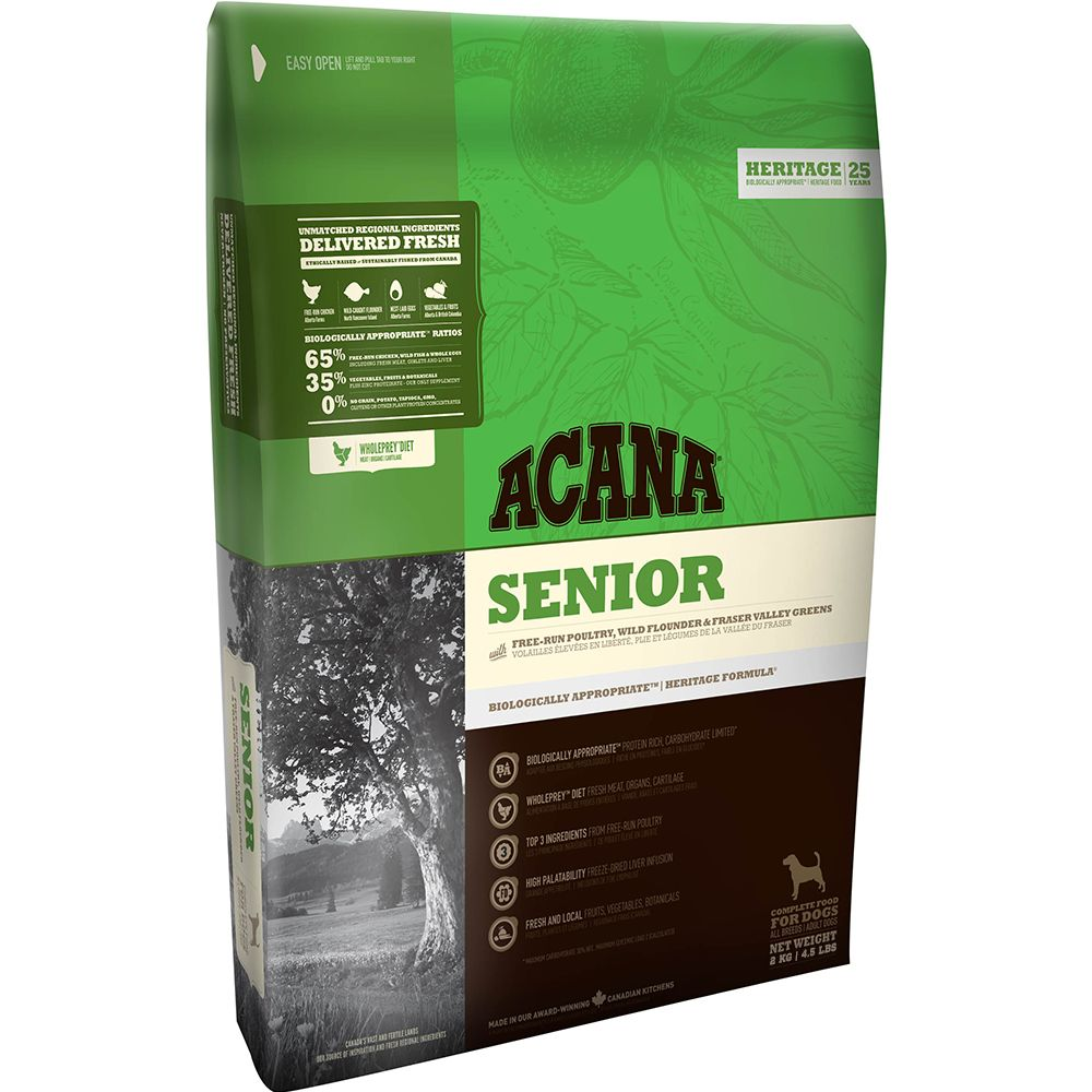 Acana Senior Dry Dog Food - 11.4kg